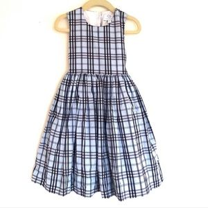 Baby CZ Periwinkle Plaid Flare Bow Tie Back Dress
